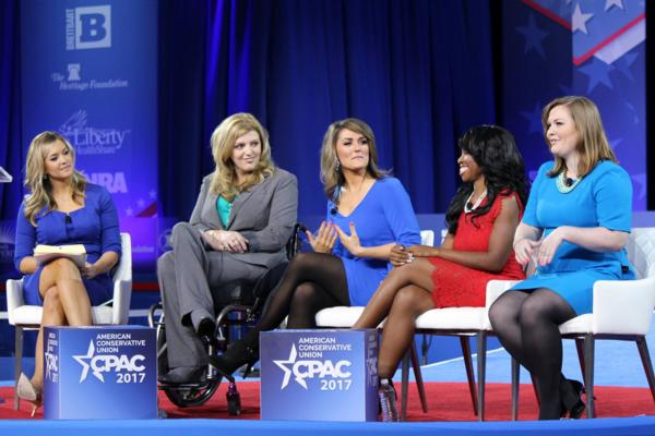 Antonia on the main stage at CPAC 2017