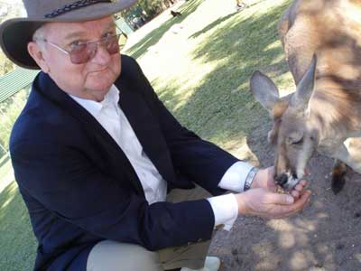 Morton Blackwell with Kangaroo