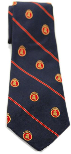 Adam Smith Woven Silk Navy Tie